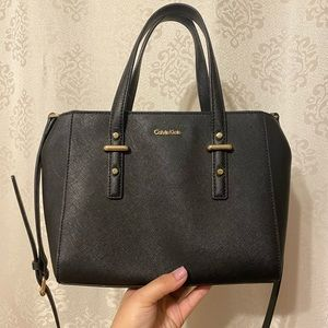 Little black Calvin Klein handbag/ crossbody bag